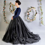 Gothic Maxi Tulle Skirt, Puffy ball maxi skirt