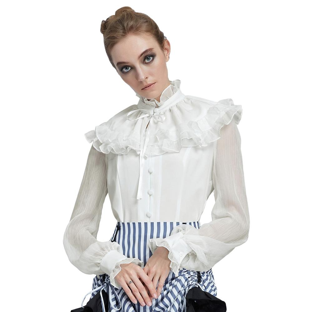 Gothic or steampunk vintage shirt with collar - Corsettery Authentic Corsets USA