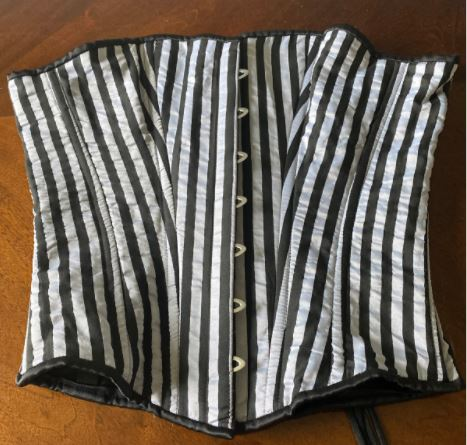 Striped overbust corset, 34 inches