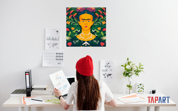 Frida Kahlo. Muhammed Sajid. Canvas Art Prints. TapArt