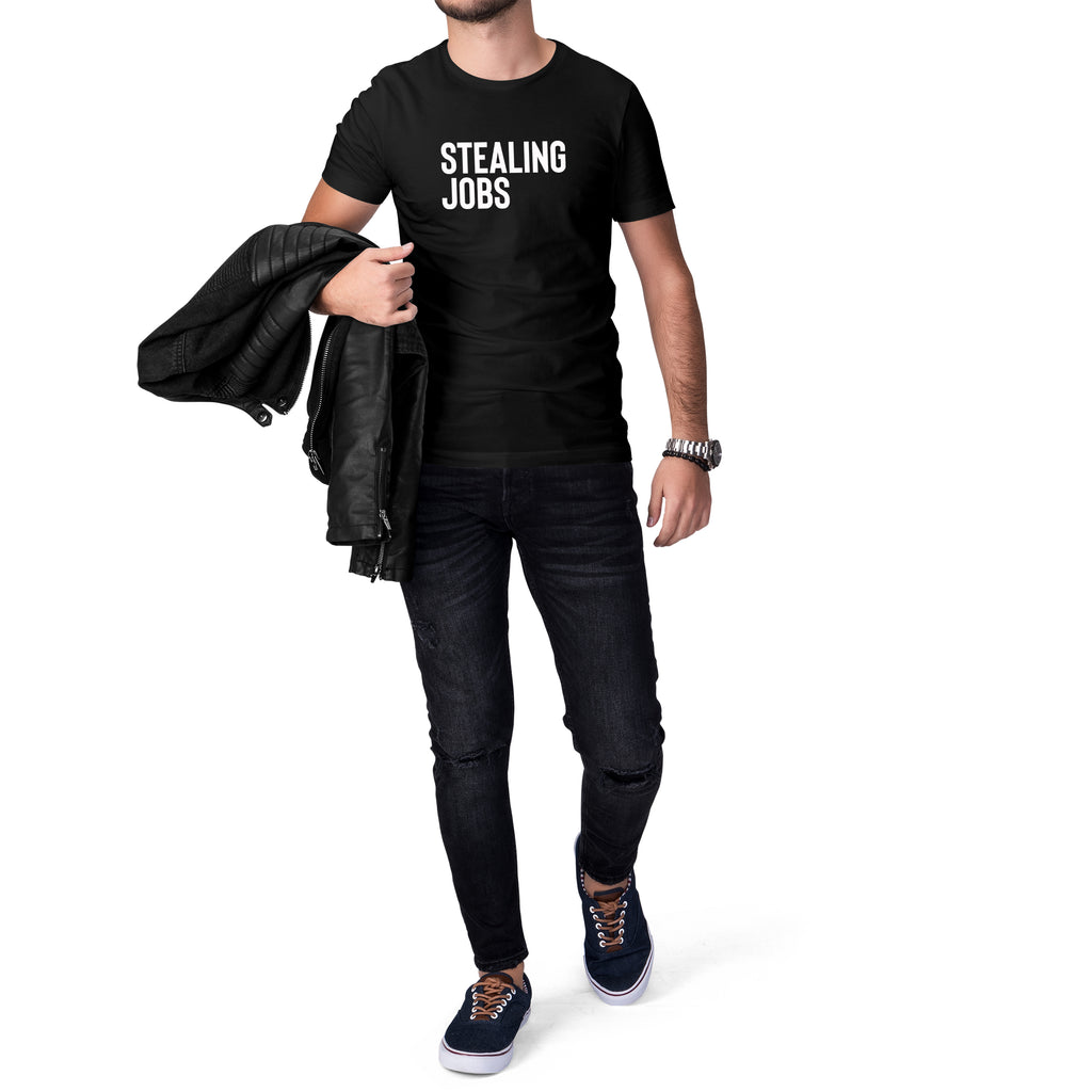 Stealing Jobs Short Sleeve Tee for Men