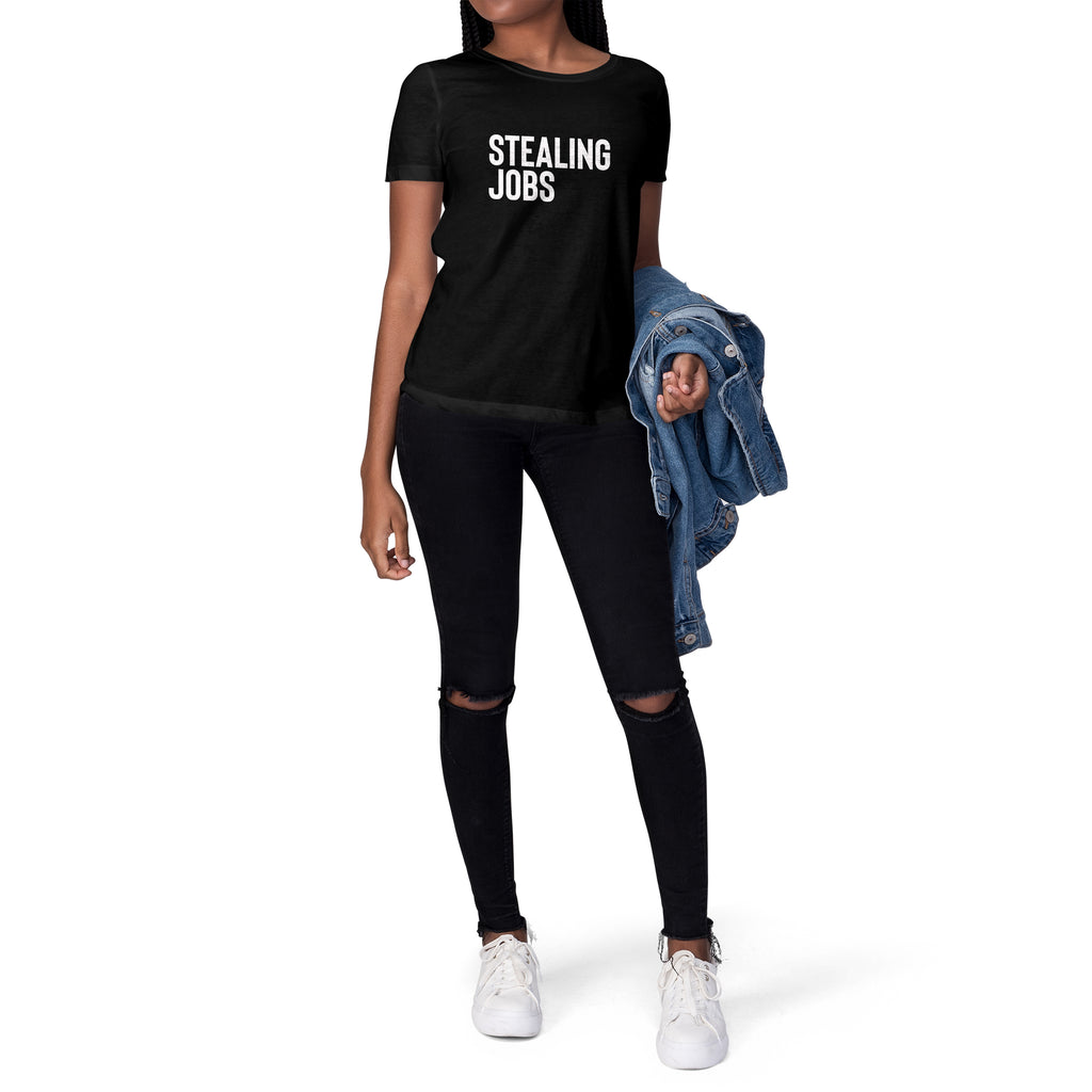 Stealing Jobs Short Sleeve Tee for Women