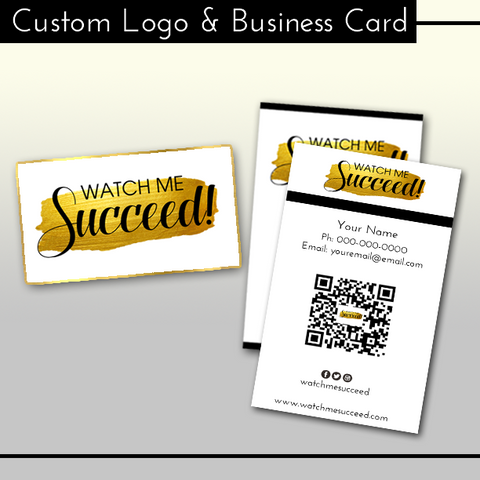 Custom Logo & Business Card Bundle