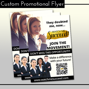 Customized Promotional Flyer w/Print