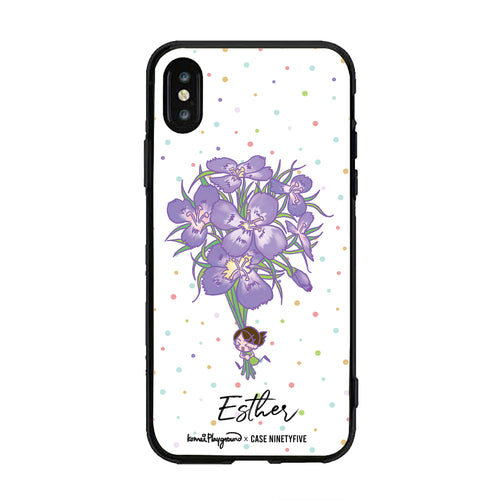 Oh My Violet Dianthus - Komei Playground Custom Name Phone Case