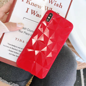 Diamond Silicon 3D Case for iPhone