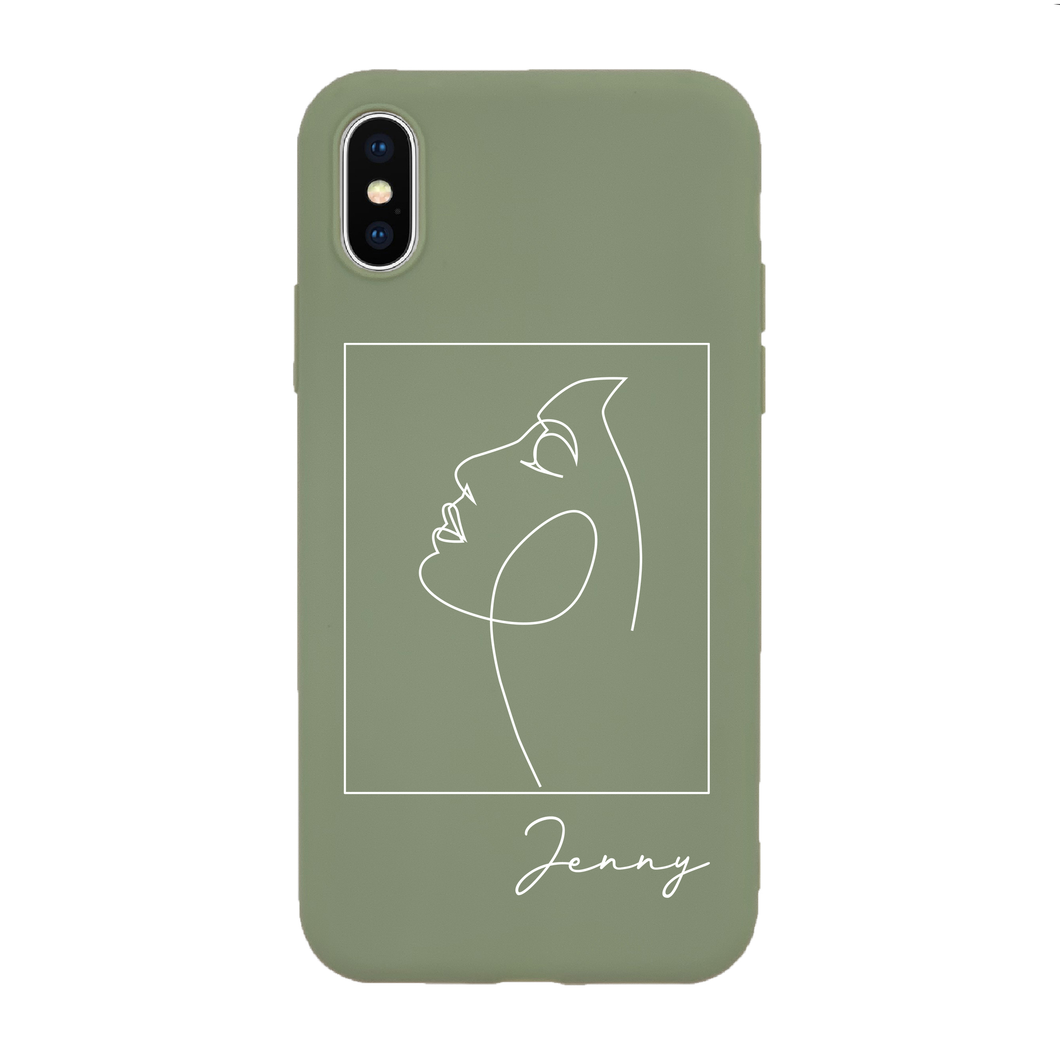 Abstract Figure  Custom Case (RUBBER MATTE)