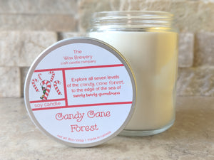 Candy Cane Forest- 8 oz Candle