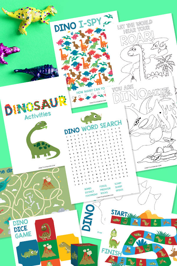 Dinosaur Printable Kids Activity Pack