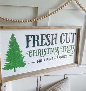 Fresh Cut Christmas Trees Craft Kit 12X24
