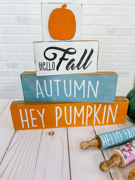 Fall Kit Decals for blocks and rolling pins - DECALS ONLY