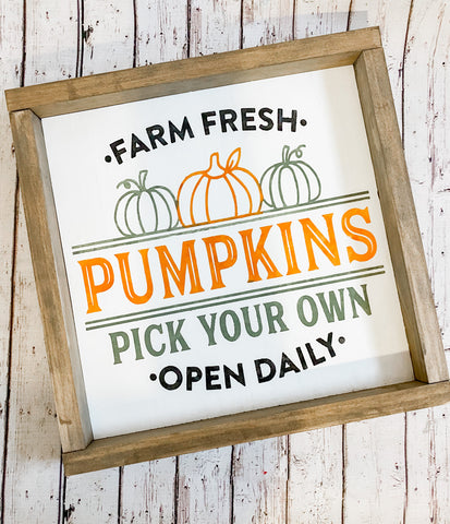 Farm Fresh Pumpkins Sign Kit