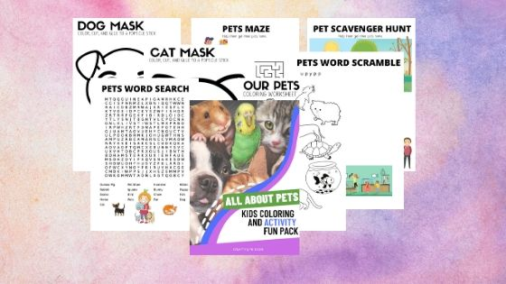 Pets Printable Kids Activity Pack