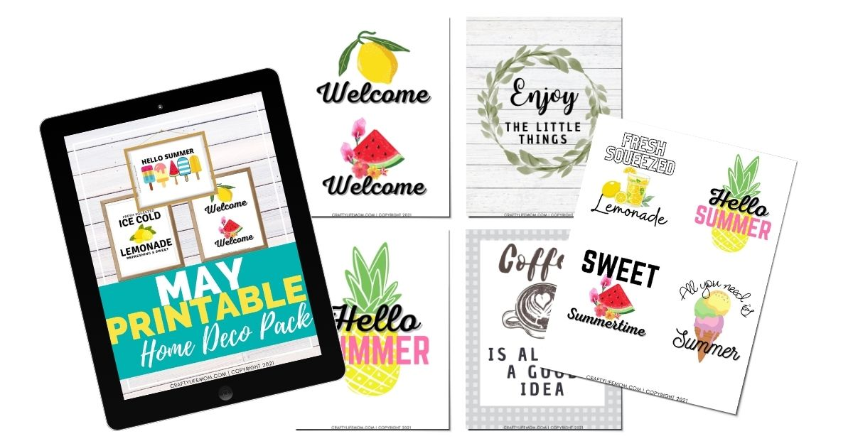 May Printable Home Decor Pack