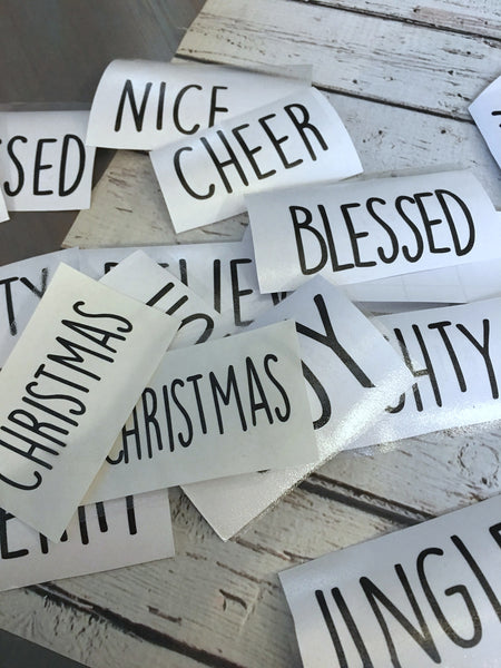 Rae Dunn Inspired Ornaments - DECALS ONLY