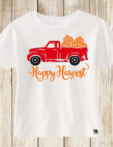 Fall Harvest Truck and Pumpkins
