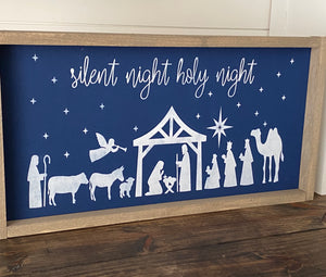 Silent Night Nativity Craft Kit 12X24