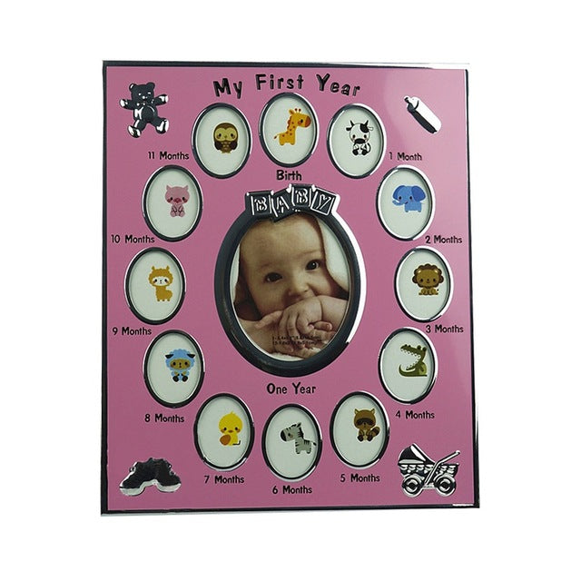 1 12 Month Newborn Picture Frame Monthly Photo Frame Metal Photo