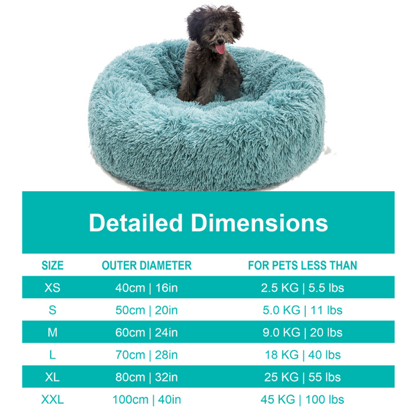 Comfy Pet  Bed Size Guide