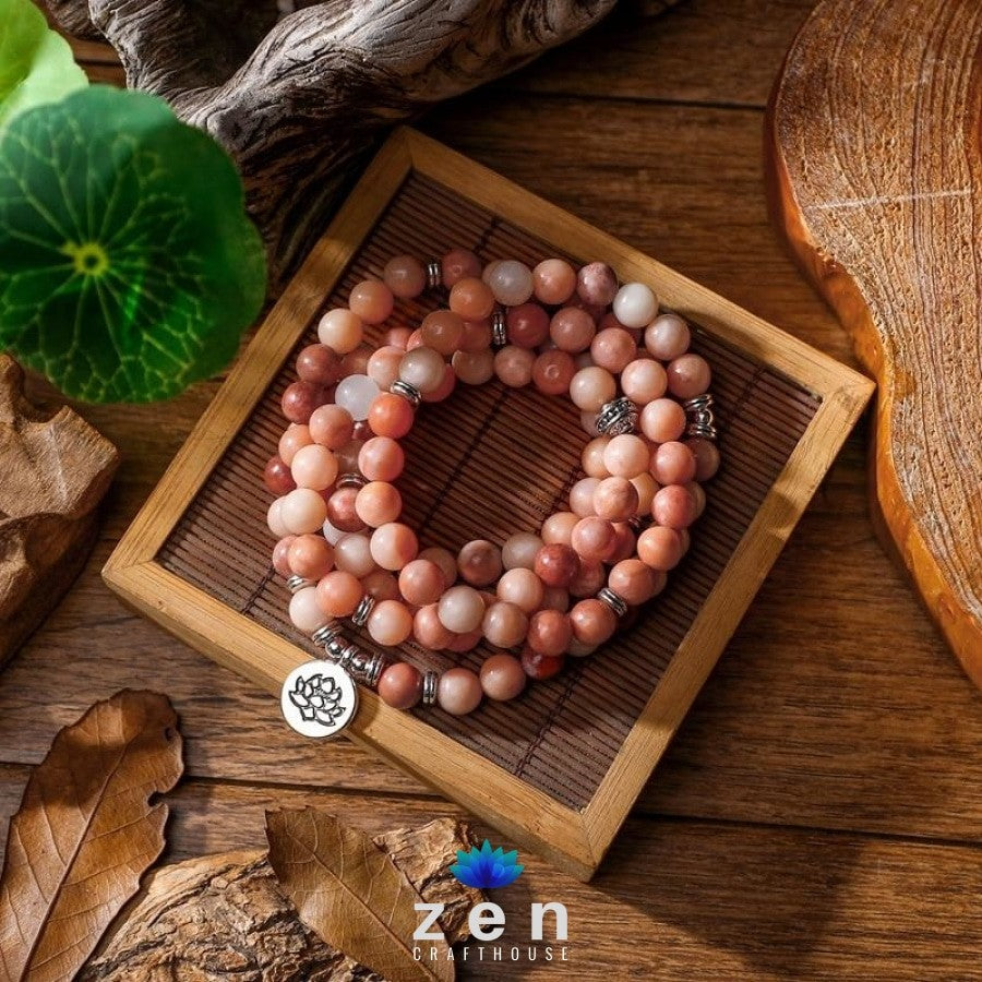 Charms Pink Aventurine Mala | Happiness