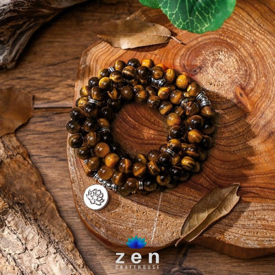 Charms Tiger Eye Stone Mala | Protection