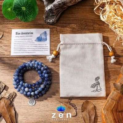 Charms Blue Aventurine Mala | Mental Power