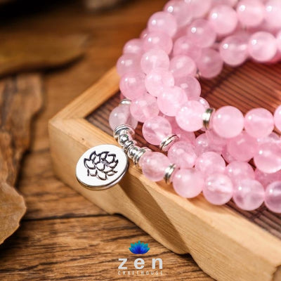 Self-Love Rose Quartz Mala | 4 Charms