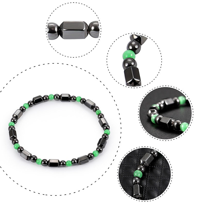 Magnetic Therapy Bracelet - Black & Chive Green