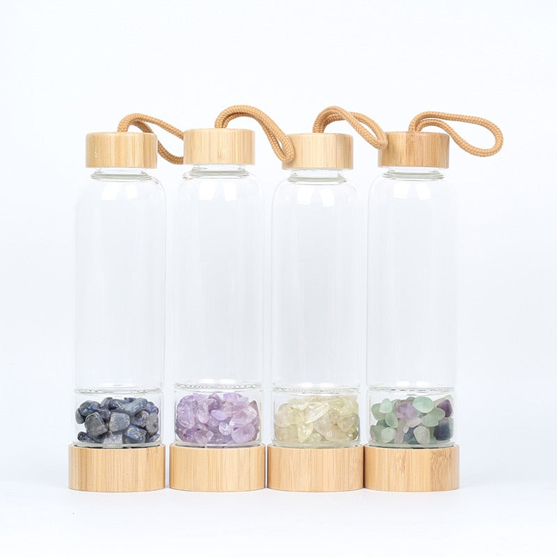 Bamboo Crystal Water Bottle