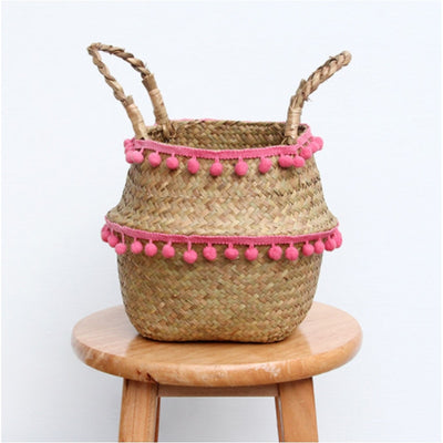 New decoration Foldable Rattan Basket - 7 styles