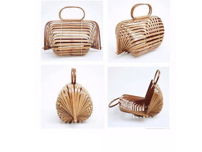Large Straw Bamboo Bag Women