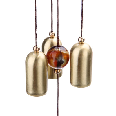 Df 100 Fish Copper 6 Bells Wind Chimes