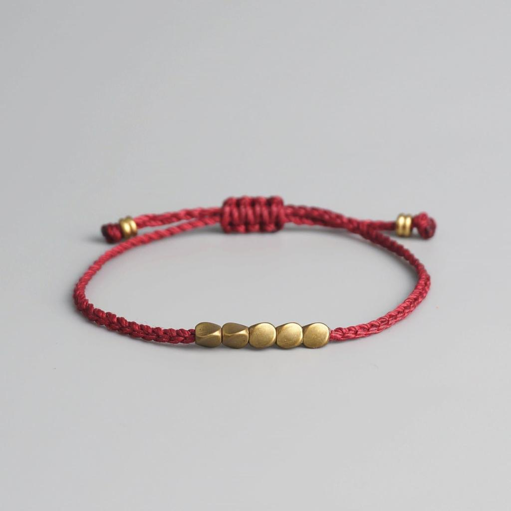 Tibetan Copper Bead Lucky Bracelet