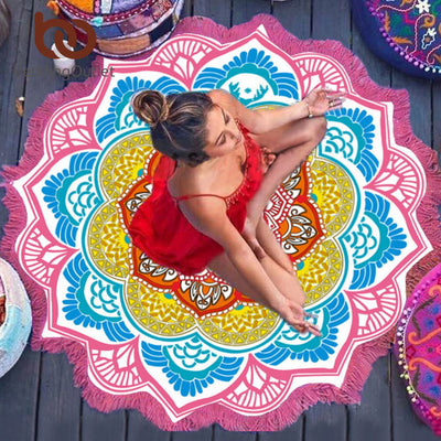 Df 82 Indian Lotus Mandala Tapestry - 6 Colors