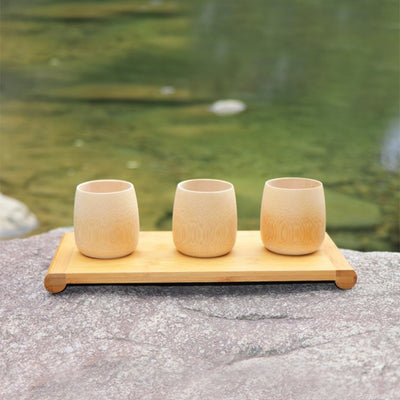 Df 148 Green Natural Pure Handmade Bamboo Tea Cups