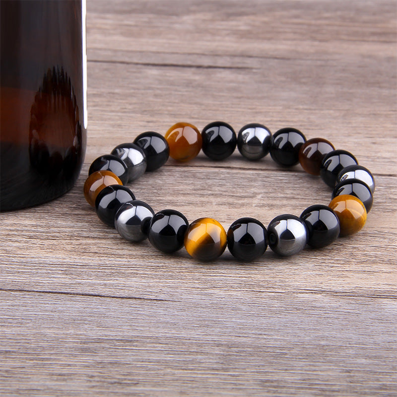 Triple Protection Natural Stone Bracelet