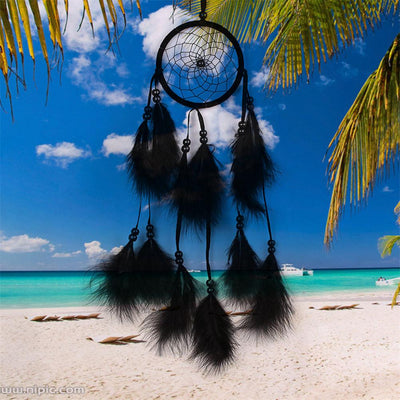 Df 110 Wind Chimes Handmade Indian Dream Catcher Net