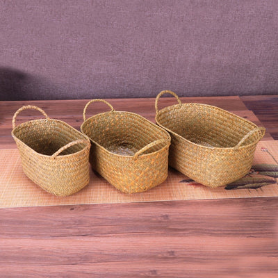 Df 121 Wicker Weaving Storage Basket Handmade Rattan