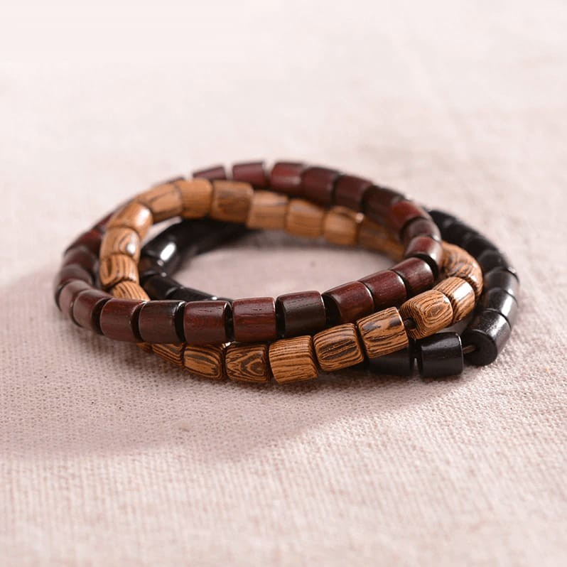 Triple Wood Beaded Bracelet | Balance