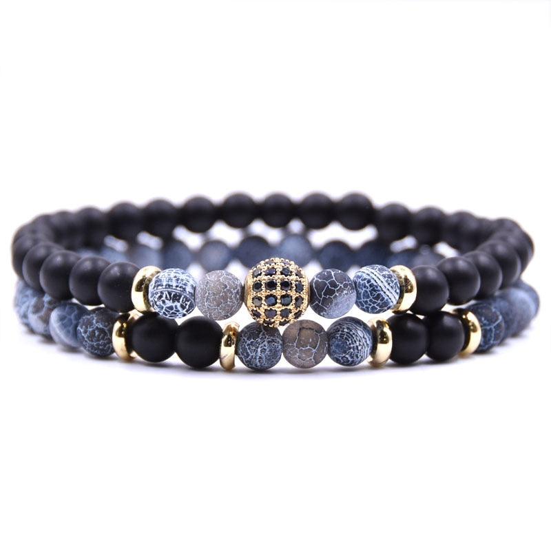 Blue Aventurine Disco Ball Bracelets - Clear Speech and Empathy
