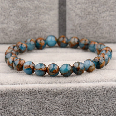 Apatite Bead Stretch Bracelet | Self Motivation
