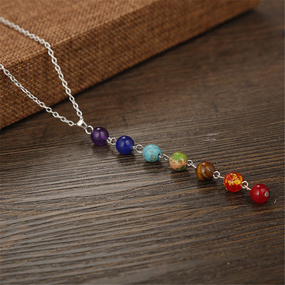 7 Chakras Stone Necklace