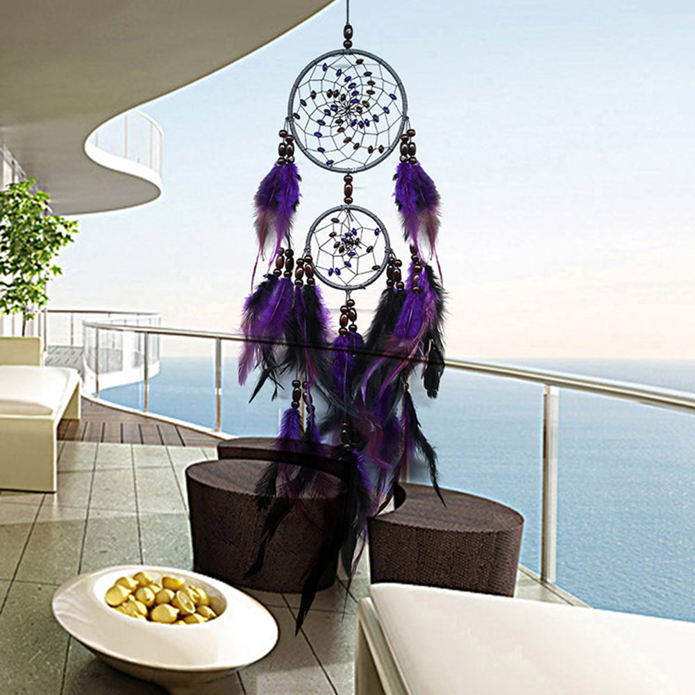 Df 109 Feather Crafts Purple Dream Catcher
