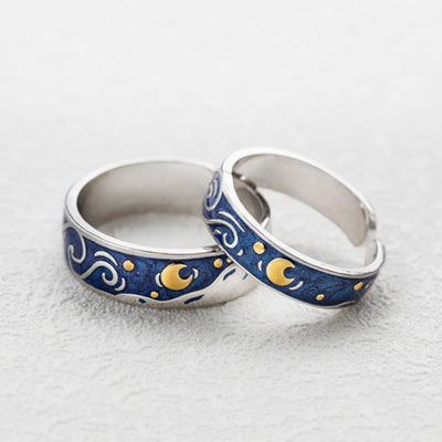 Starry Night Van Gogh's Enamel Rings