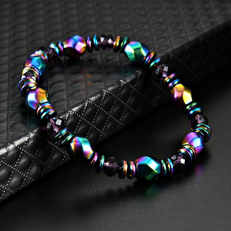Magnetic Therapy Bracelet - Blue and Purple