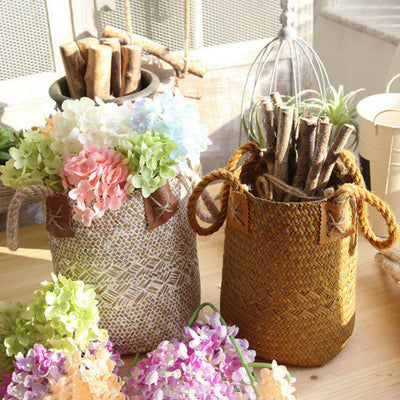Df 125 Natural Woven Seagrass Belly Storage Basket