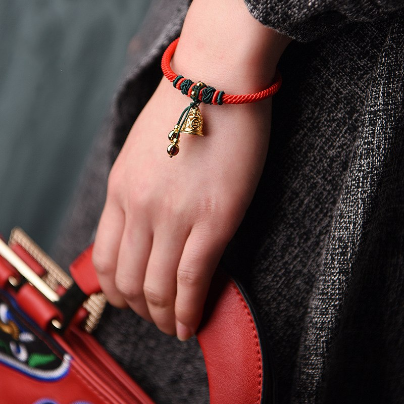Handmade Ethnic Lucky Energy Bracelet - Ring the bell of Happiness