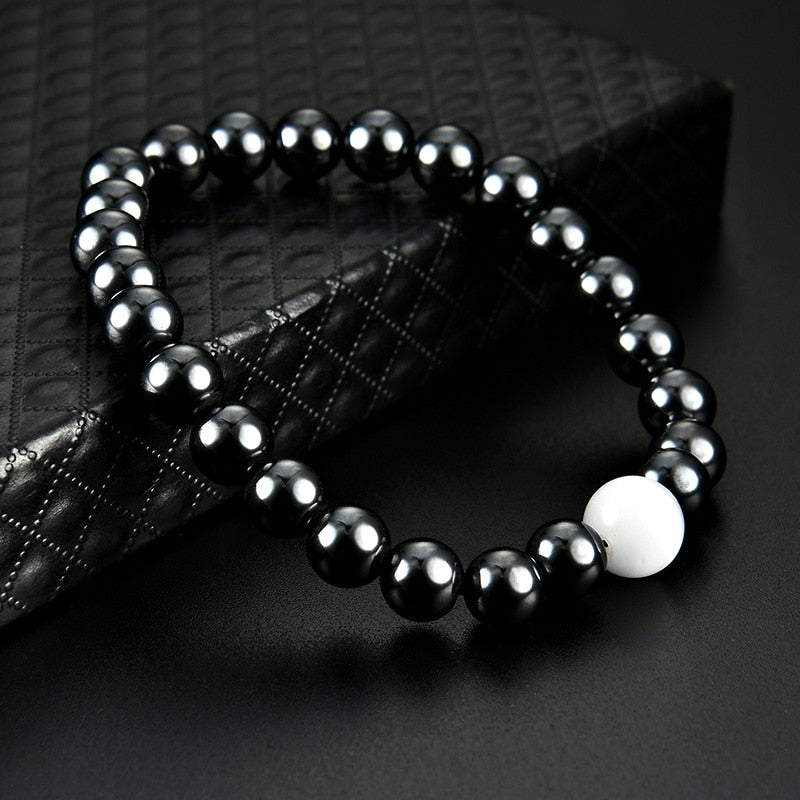 Magnetic Therapy Bracelet - Black and White