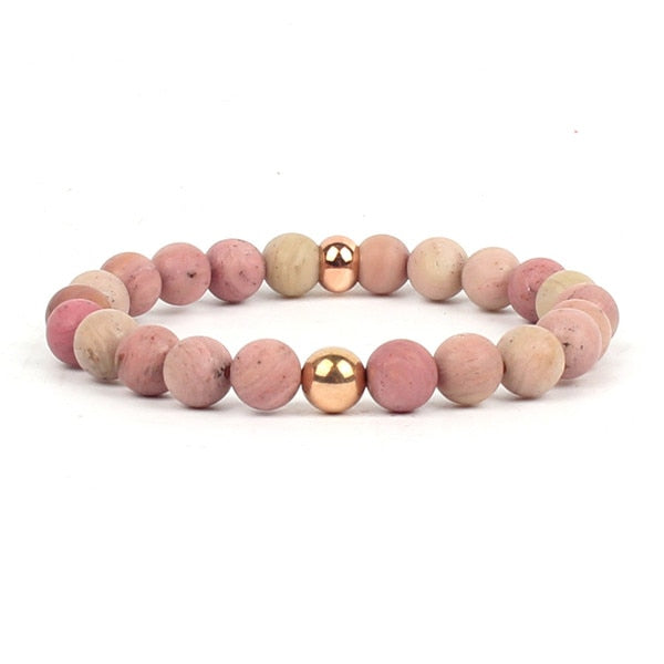 Minimalist Agate Natural Gemstone Bracelet - Grounding and Nourishment