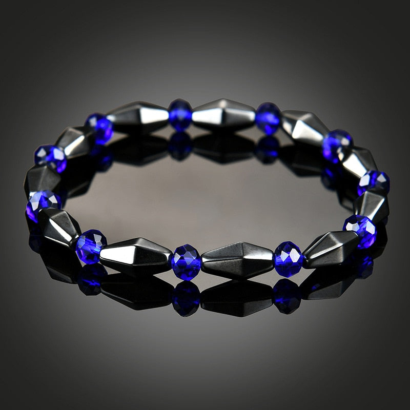 Magnetic Therapy Bracelet - Black and Cobalt Blue